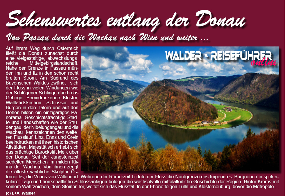 Wachau Karte Donau.Donau Passau Wien Reisefuhrer