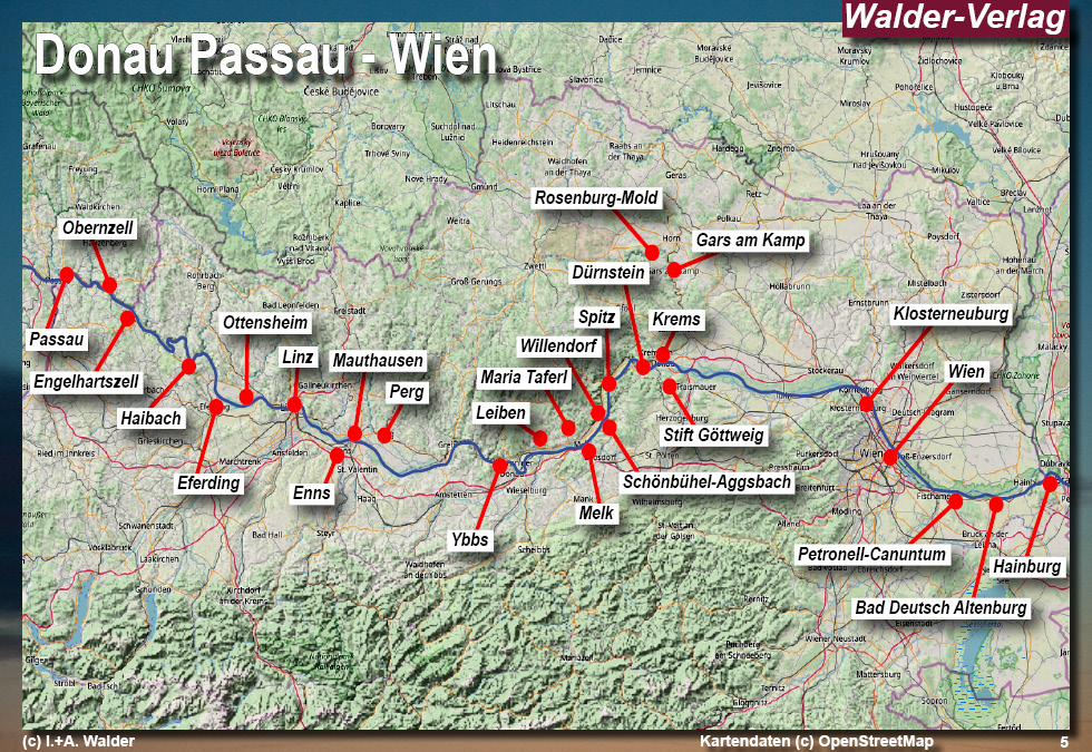 Wachau Karte Donau.Donau Passau Wien Reiseführer