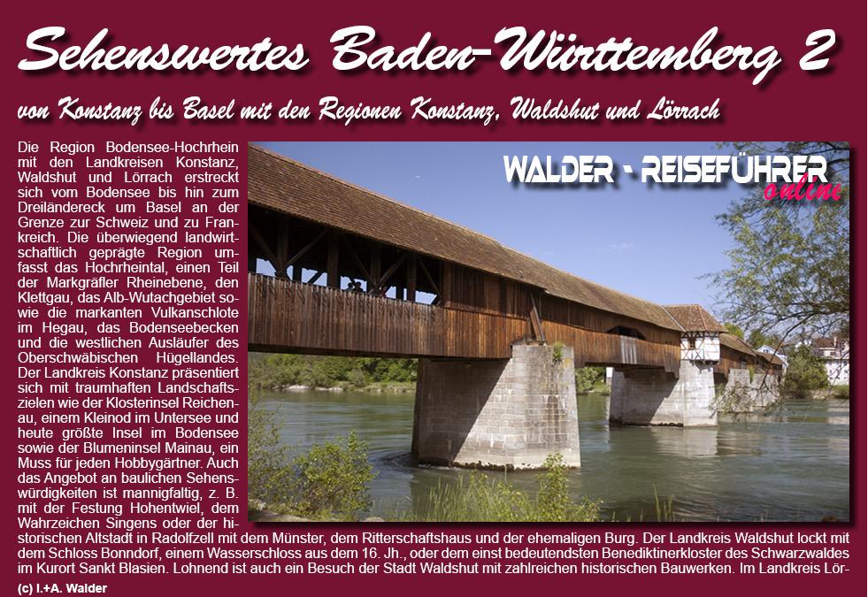 Reisefuhrer D Baden Wurttemberg 2 Konstanz Waldshut Lorrach
