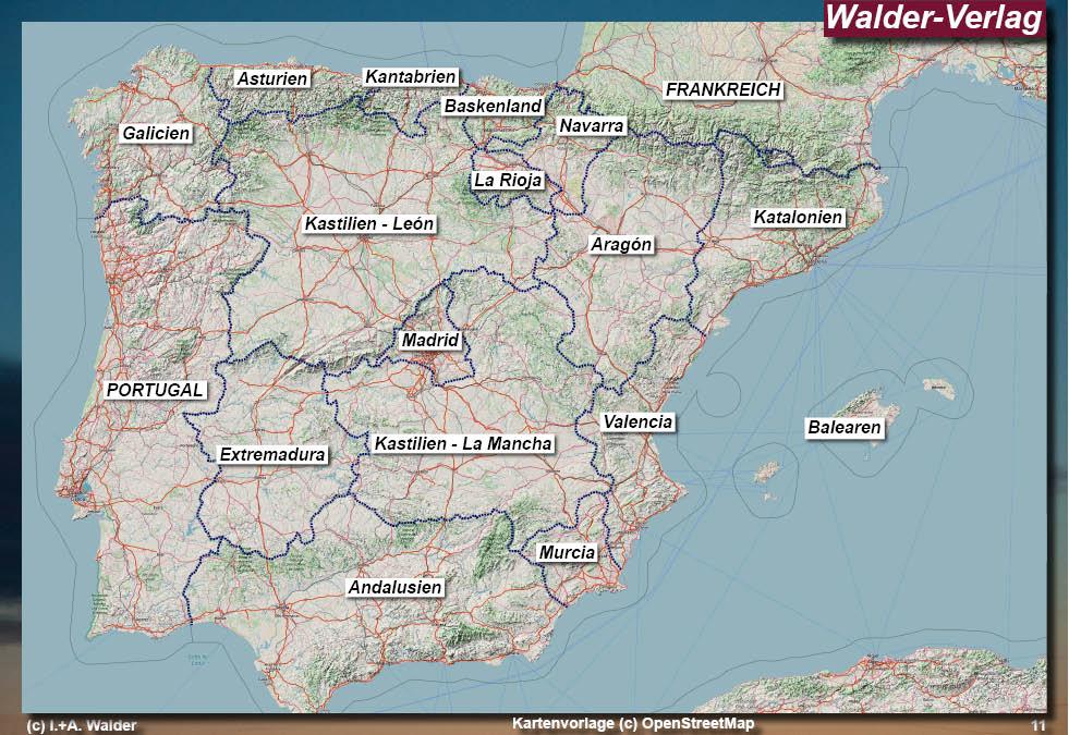 Spanien Regionen Karte.Spanien