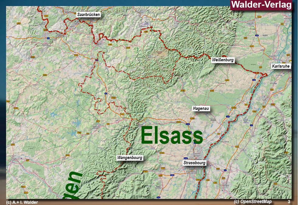 Elsass Karte Frankreich.Elsass Alsace Reisefuhrer