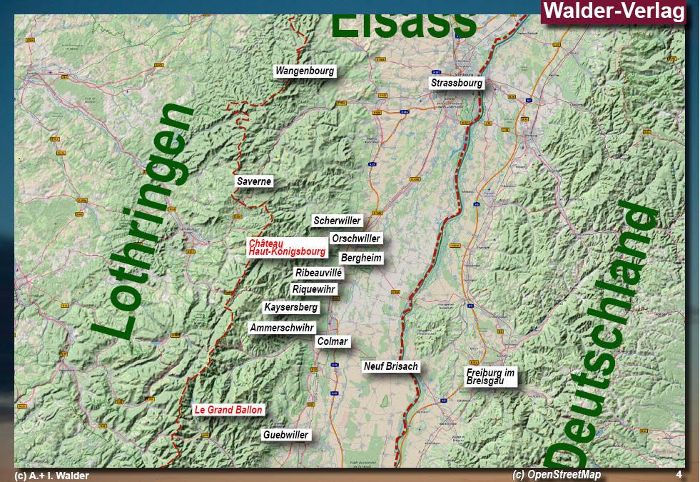 Elsass Karte Colmar.Elsass Alsace Reiseführer