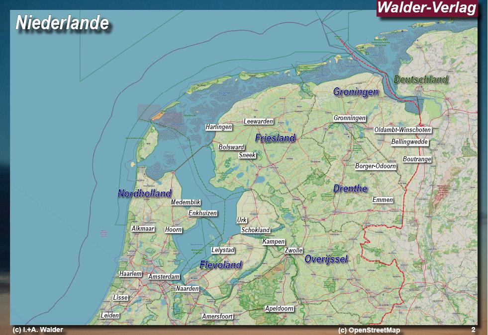 Niederlande Ijsselmeer Karte.Niederlande Reiseführer West