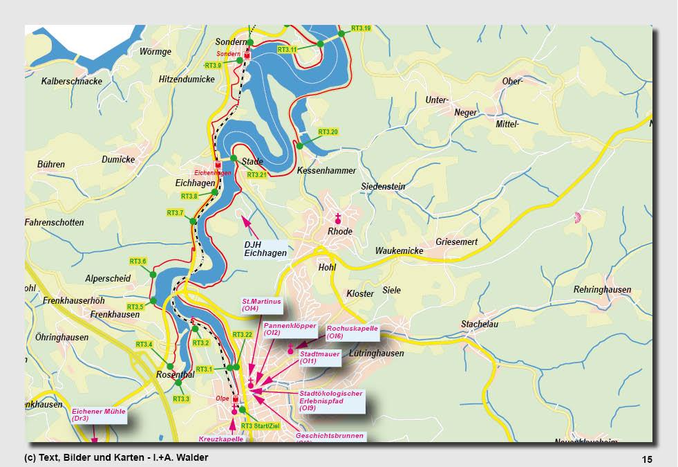 Sauerland Karte Deutschland.Biggesee Radtour Reiseführer
