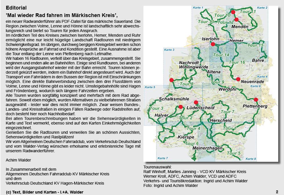 Sauerland Karte Deutschland.Märkischen Sauerland Radtour Reiseführer