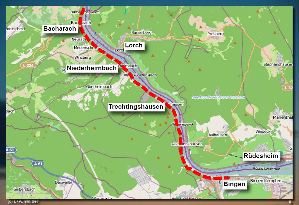 Radtour Rhein