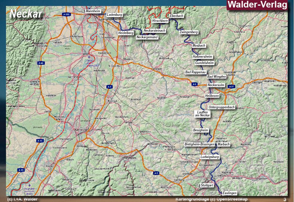 Schwäbische Alb Karte Städte.Neckar Reiseführer