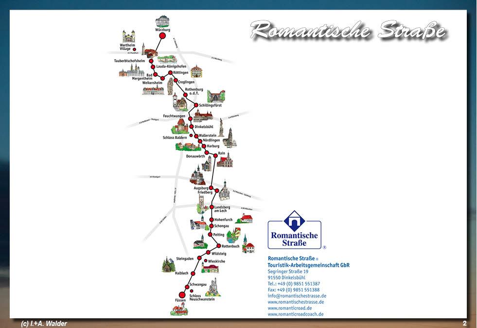 Romantische Straße Karte.Romantische Straße Reiseführer