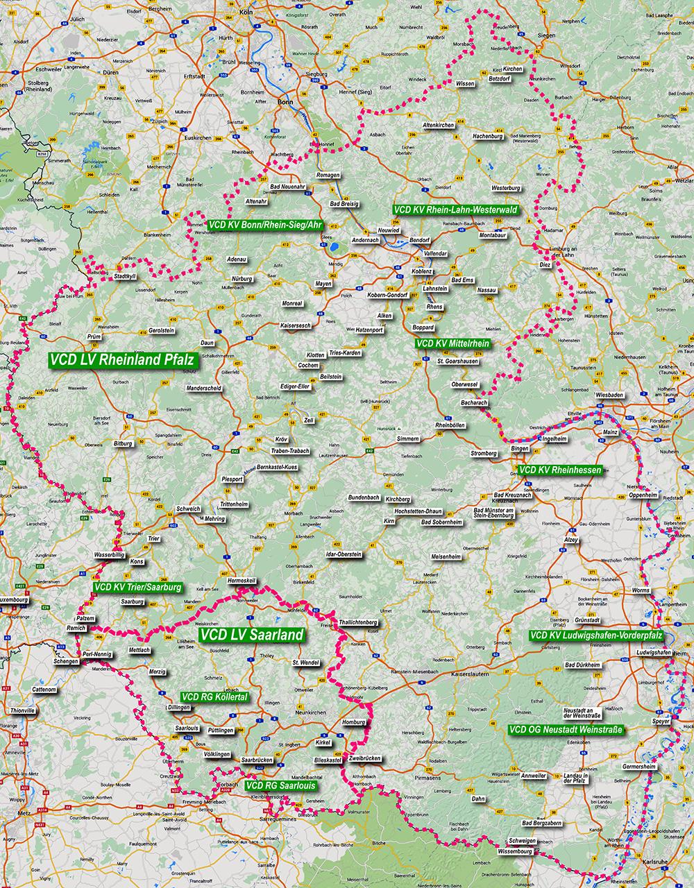 Verkehrsclub Deutschland Vcd Karete Rheinland Pfalz Saarland