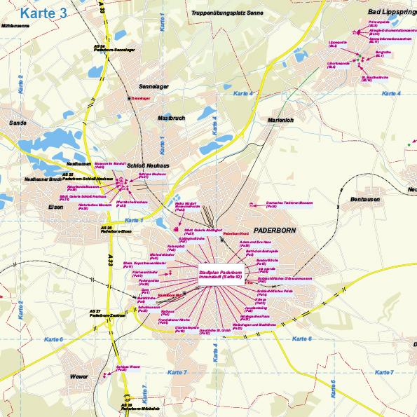 Karte Paderborn.Paderborn Reiseführer 21
